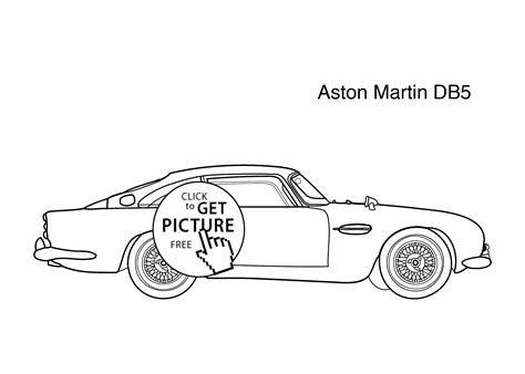 aston martin db5 vantage free colouring pages
