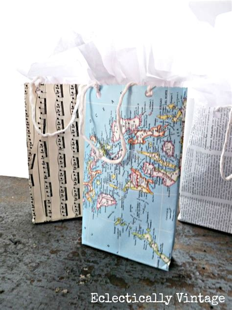 make paper gift bag tutorial from any paper