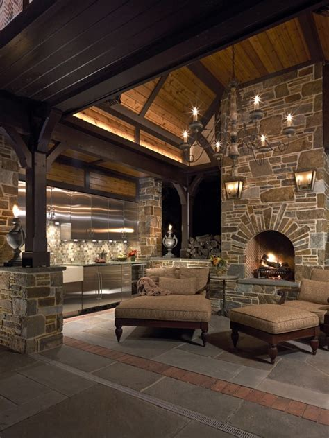 ideas  outdoor fireplace  grill