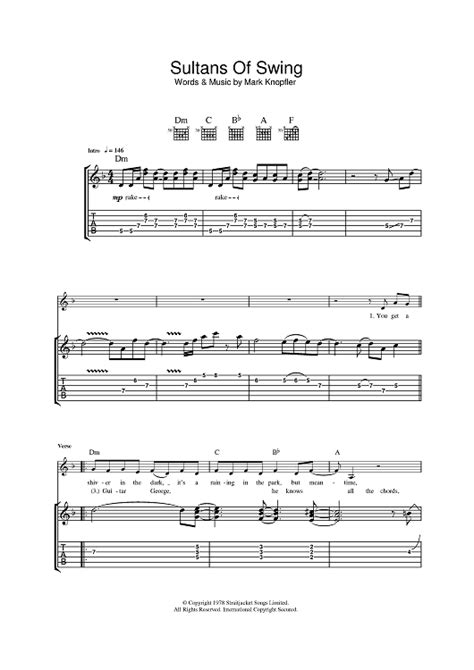 sultans of swing sheet sultans of swing sheet for piano and more