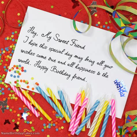 how to make a special birthday card best friend happy birthday wish cards
