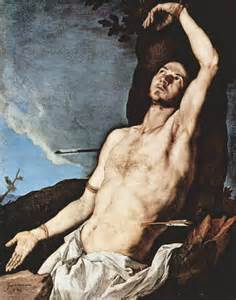 Tolentine herald saint sebastian patron of athletes soldiers and