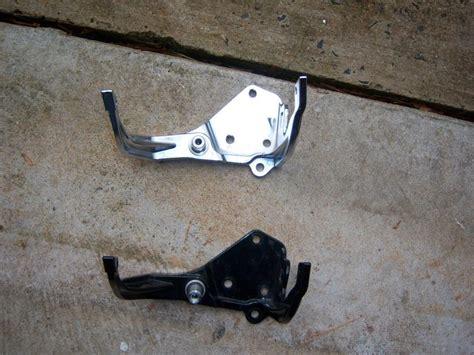 Bracket Footrest Hd New replaced my painted footrest brackets with chrome ones pictures harley davidson forums