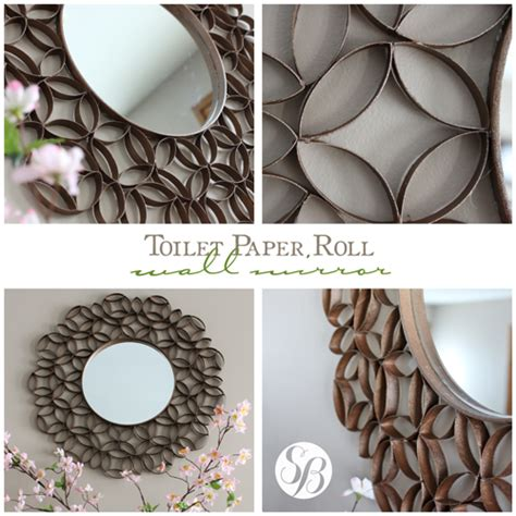 mirror craft paper toilet paper roll mirror wall simply bloom
