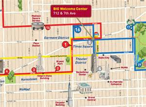 New York Gray Line Tour Map by Find Us New York Map Big Bus Tours