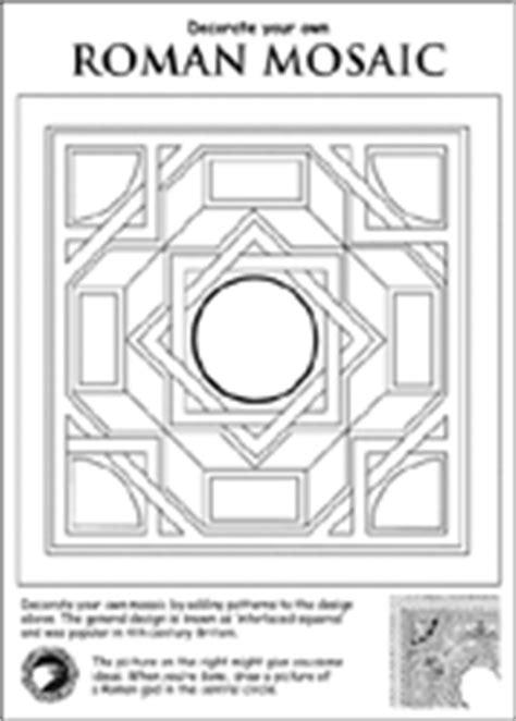 show me more roman mosaics colouring pages
