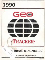 1990 geo tracker factory electrical diagnosis service
