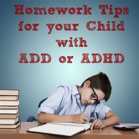 Homework Time Child School Set school year success homework tips for your child with add