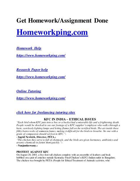 Kfc Study Essay by 157591387 Kfc Study