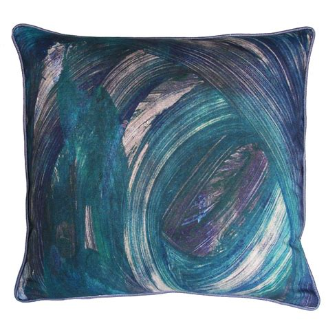 Kevin O Brien Pillows by Kevin O Brien Studio Finger Paint Printed Dec Pillow
