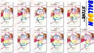candele per compleanno particolari candeline numerali multicolor