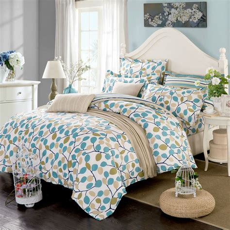 Pattern Bed Sheets by Multicolor Leaves Pattern Floral Style Fitted Sheet Sets