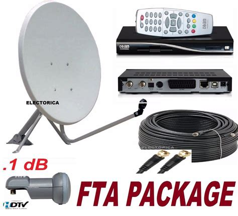 33 satellite dish dreambox dm100 fta receiver lnb 100ft rg6 cable arabic ebay