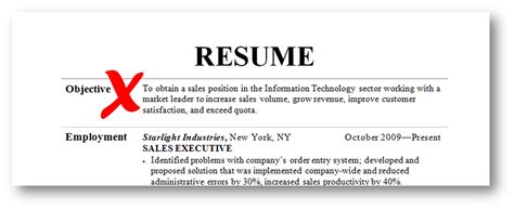 here is how to make a strong objective for your resume