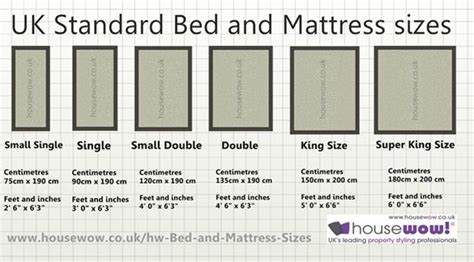 Size Of Mattress Vs by Dimensions Of A Bed Search Figaro