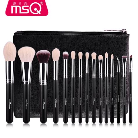 Gratis Ongkir Shell Brush Make Up 6 Set msq 15pcs brush set professional soft makeup brushes