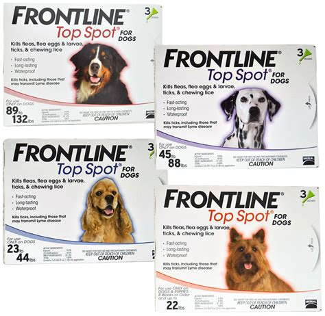 frontline spot on top for dogs flea and tick supplies for dogs