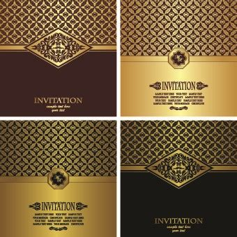 Home Design 3d Gold Download Android Luxury Golden Invitation Cards Background Vector Over