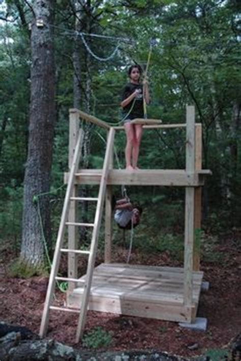 backyard zip line without trees 1000 ideas about zip line backyard on pinterest