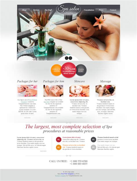 Download 15 Free Psd Website Design Templates Free Spa Website Templates