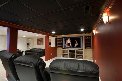 small basement home theater ideas theater room in a small basement remodel traditional