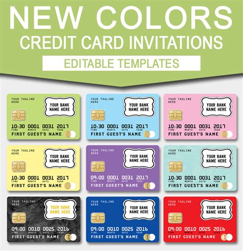 visa card template printable credit card invitation mall scavenger hunt invitations