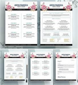vintage resume template vintage feminine resume template free