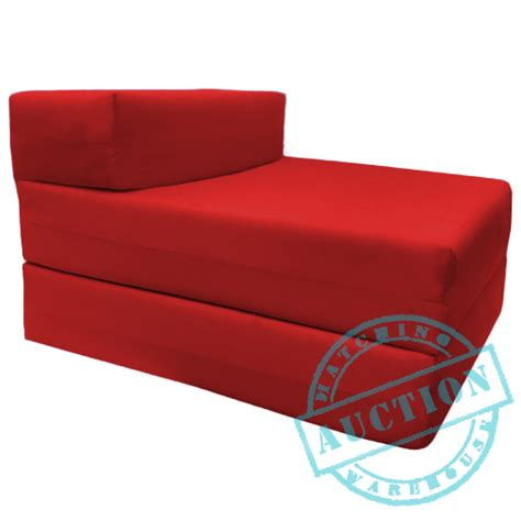 folding foam chair bed red single fold out foam z bed sofabed guest chair bed