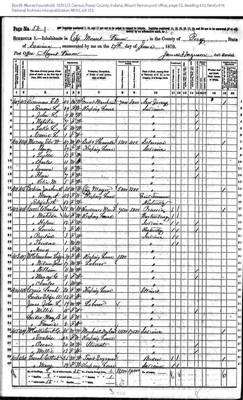 Johnson County Iowa Divorce Records 1870 E W Murray Mount Vernon Posey County Indiana