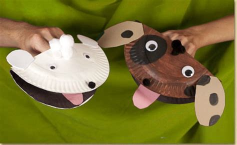 Paper Plate Puppets Templates puppy crafts a collection of ideas munchkins
