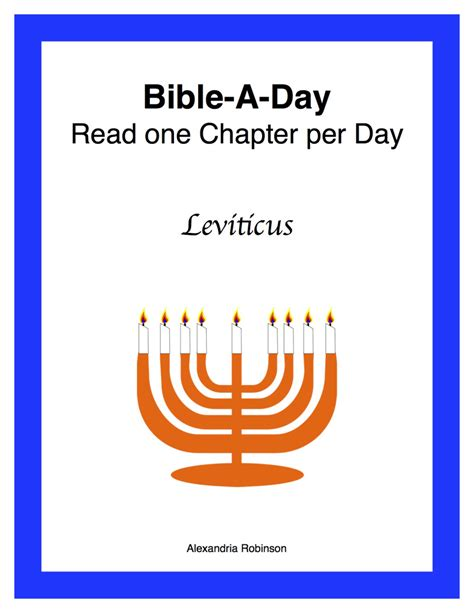 Scripture For S Day Leviticus Bible A Day Study The Genesis Feminist