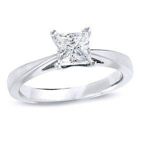 best diamond engagement rings : 1 ct princess cut d/vvs1