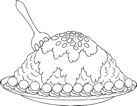 coloring page brownies dessert coloring pages