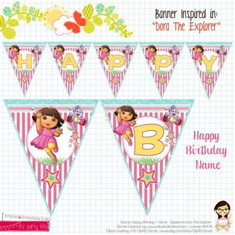 printable dora birthday banner dora birthday banner dora birthday party printable by