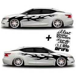 car graphic 002 race stripe free decals shine graffix