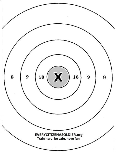 printable handgun targets 8 5x 11 printable 8 5 x 11 targets for shooting www imgkid com