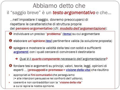 testo argomentativo struttura struttura saggio breve pdf