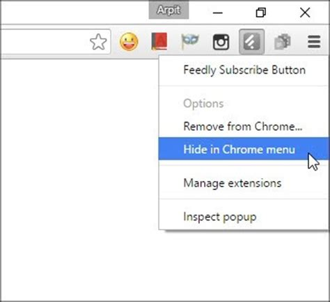 chrome messed up extension icons on browser toolbar