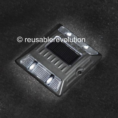 solar capacitor led white aluminum alloy solar road stud path deck dock led light with capacitor