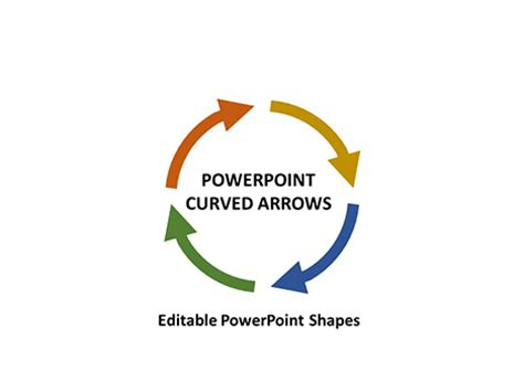 arrow powerpoint template curved arrows powerpoint