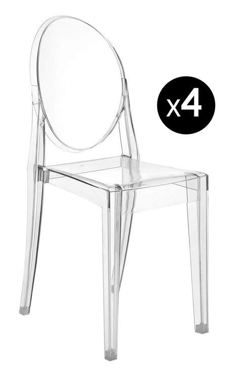 sedie trasparenti kartell scopri sedia ghost set di 4 trasparente di