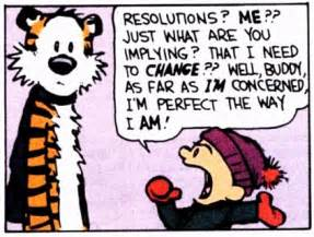 calvin and hobbes new years resolution new years resolutions