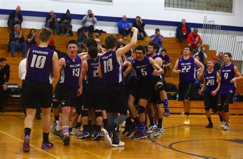 section 6 volleyball clarence hamburg eden win section vi boys volleyball