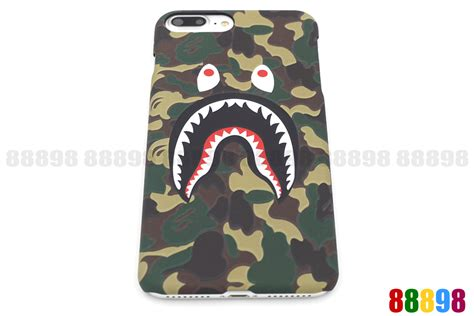 Iphone 7 Plus Bape Pattern Bathing Ape Hardcase 1 a bathing ape bape abc camo shark phone cover for iphone 7 7 plus 6 6s ebay