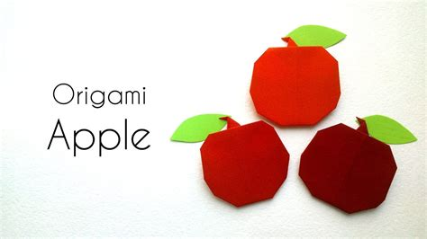 Apple Origami - how to make easy origami apple simple origami tutorials
