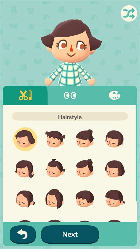 hairstyles animal crossing pocket c animal crossing hairstyles hair