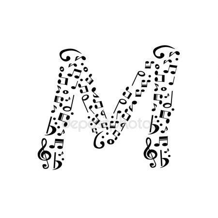 note musicali in lettere note di alfabeto abc lettere m musica 3d