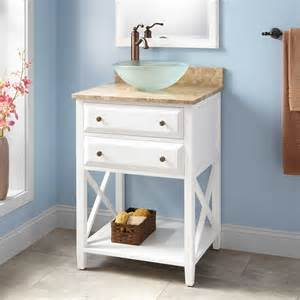 White Bathroom Vanity With Vessel Sink by 24 Quot Glympton Vessel Sink Vanity White Bathroom Vanities Bathroom