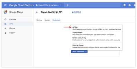 maps api usage how to create api key in maps module