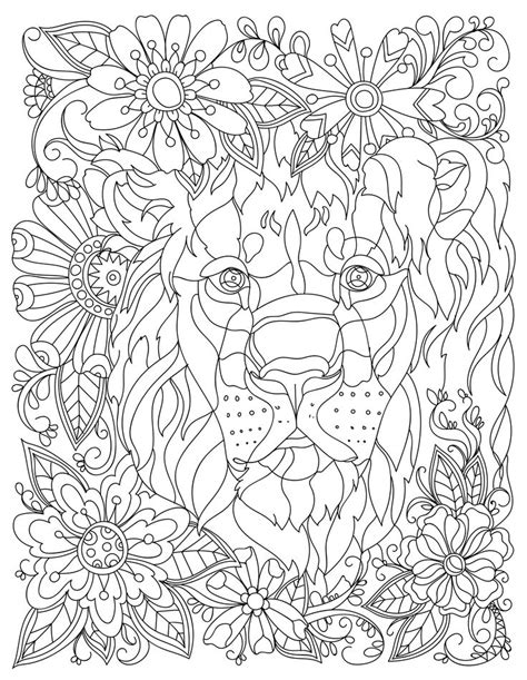 lion coloring page for adults download this beautiful free lion adult coloring page
